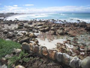 View of Muizenberg beach from the cottage